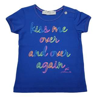 Tricou KISS blue electric