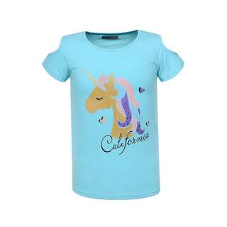 Tricou fete HAPPY UNICORN blue