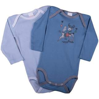 Set body maneca lunga RAINDEER blue 1-3 ANI