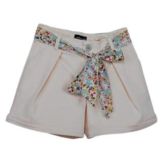Pantaloni scurti FASHION GIRL cu cordon, roz
