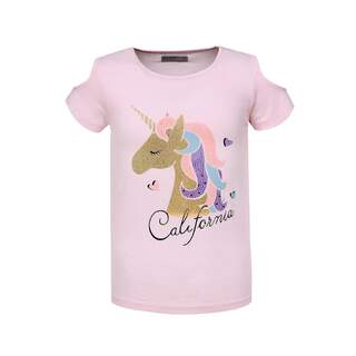 Tricou fete HAPPY UNICORN roz