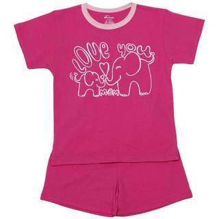 Pijamale scurte din bumbac PINK ELEPHANTS